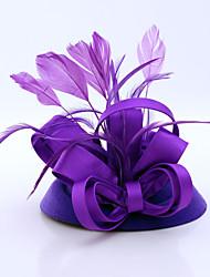 Women's Satin Feather Flannelette Headpiece-Wedding Special Occasion Casual Outdoor Fascinators 1 Piece