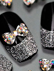 Lovely Mental Bow Nail Jewelry (5Pcs)