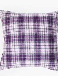 Plaid Cushion Cover -Purple