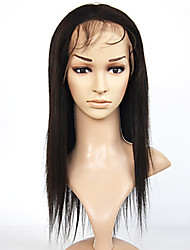 Virgin Brazilian Italian Light Yaki Lace Front Wig Yaki Straight Full Lace Wigs Human Hair Wigs For Black Women 8''-26''