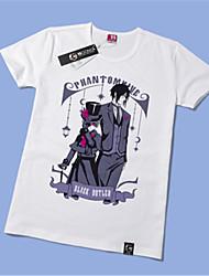 Inspiré par Black Butler Ciel Phantomhive Manga Costumes de Cosplay Cosplay T-shirt Imprimé Jaune Manche Courtes Manches Ajustées Pour