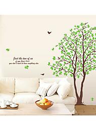 Настенные наклейки в виде зелёного дерева