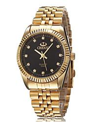 Мужской Наручные часы Кварцевый Защита от влаги сплав Группа Золотистый марка