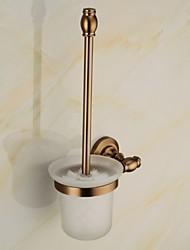 Porte Brosse de Toilette / Gadget de Salle de Bain Alliage de Zinc Fixation Murale 5.1*2.36*14.96 inch Aluminium Antique