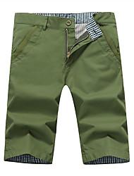 The summer youth men's casual pants men code Korean slim thin five feet pants pants men