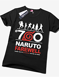 Inspired by Naruto Naruto Uzumaki Anime Cosplay Costumes Cosplay T-shirt Print Yellow Short Sleeve T-shirt
