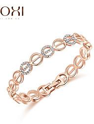18k ouro / prata jóias de cristal pulseira para senhora