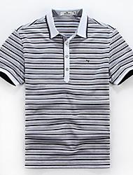 Seven Brand® Men's Shirt Collar Short Sleeve T Shirt Light Gray-E99T540283