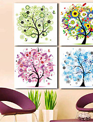 Diamonds Embroidery 30*30cm Spring Summer Autumn Winter Four Seasons Tree Round Diamond Cross Stitch Diamond Mosaic Set Of 1