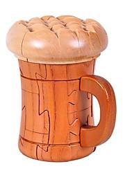 verre de bière à la main cadeau bois artware jouets pour les enfants d'âge préscolaire éducatif modèle de jouet en bois 3D Puzzle
