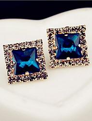 Earring Stud Earrings Jewelry Women Daily / Casual Gem 1 pair White / Blue