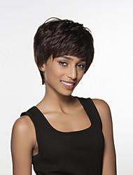 moda donna ondulati breve remy mano vergine umana legata parrucca top