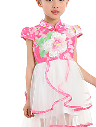 Girl's Blue / Pink / Yellow Dress Cotton / Polyester Summer