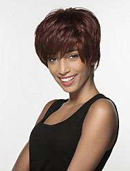 Spiffy Short Straight  Remy Human Hair Hand Tied Top Wig for woman's