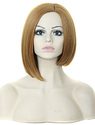 Popular Lady Brown Color Short Synthetic Hair