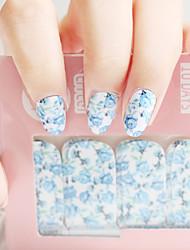 Wonen mode de belles fleurs fille ongles art autocollants bricolage décalcomanie manucure