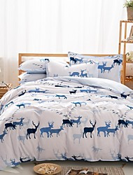 Animal Cotton 4 Piece Duvet Cover Sets