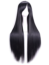 80 Cm Heat Resistant Harajuku Anime Cosplay Wigs Young Long Straight Synthetic Hair Wig/Wigs For Japanese Anime