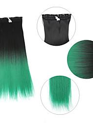"""neitsi® 110г 22 """"полный глава 5clips Kanekalon синтетические части волос клип в / на прямых расширений т-зеленый #"""