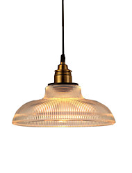 Loft Retro Vintage Creative Pendant Lamp With Shade Glass Chandelier Single Head For Bedroom Living Room