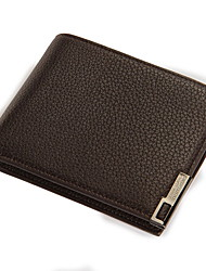 Clutch / Portefeuille / Kaart/pasjeshouder / Muntenportemonnee / Business Card Holder-2-vouwen-1 # / 2 # / 3 # / 4 #-PU-Heren