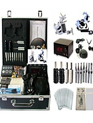 Basekey Tattoo Kit K0062 2Guns Machine With Power Supply Grips Cleaning Brush  Needles