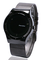 Men's Fashion Turntable Wrist Watch Stainless Steel Mesh Band Cool Watch Unique Watch