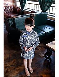 Kid Princess Series Costumes Long Sleeve Cute and Cuddly Costumes Dress Cheongsam