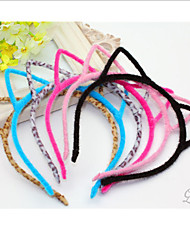 oreilles en forme de bandeaux noirs flanelle douce de chat pour les femmes (noir, gris) (1 pc)