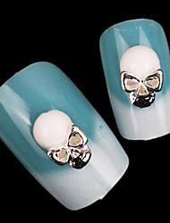 do punk mental, preto e branco jóias crânio prego (5pcs)