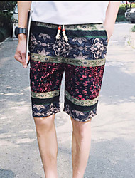 Men's Shorts,Casual Print Cotton