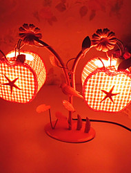 Creative Two Apple Lamp Bedroom Bedside Lamp Lighting Lamps of European Romantic Personality Gift(Random Color)