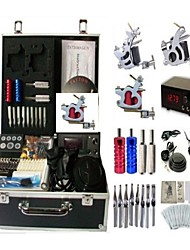 Basekey Tattoo Kit K0083 2Guns Machine With Power Supply Grips Cleaning Brush Needles
