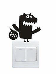 AYA™ DIY Wall Stickers Wall Decals, Lovely Funny Monster Pattern Light Switch Stickers