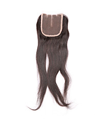 """Brazilian Cheap Lace Closures With Baby Hair 3.5""""*4""""Straight Closure Free Middle 3 Part Silk Top Lace Closure"""