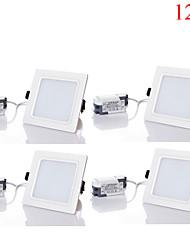 12W LED даунлайт 24pcs SMD 5730 1100-1200 lm Тёплый белый / Холодный белый / Естественный белый Декоративная AC 85-265 V 4 шт.