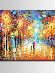 Hand-Painted Abstract / Landscape  Oil Painting on Canvas, One Panel
