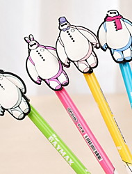 Silica Gel Baymax Ornament Black Ink Gel Pen(Random Color)