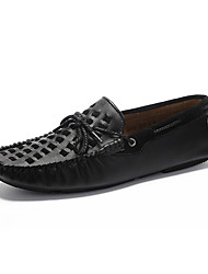 Men's Shoes Wedding /Office & Career / Party & Evening / Dress / Casual Nappa Leather Boat Shoes Black/Yellow/Taupe