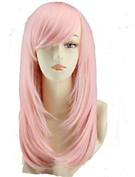cos couleur perruque de bande dessinée longue poire fleur rose perruque vendre comme des petits pains