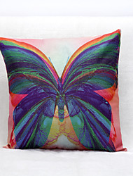 Butterfly Pattern Linen Pillowcase Sofa Home Decor Cushion Cover (18*18inch)