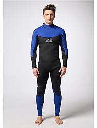 Men's Diving Suit  Wearable / YKK Zipper / Thermal / Warm Drysuits 3 to 3.4 mm Black / Blue S / M / L /XL/XXL