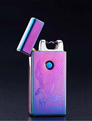 ofertas promocionais de metal arco de pulso criativo usb mais leve carregar isqueiros mais leves (estilo aleatório)