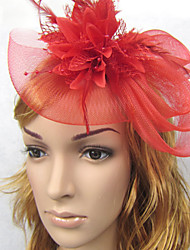 Women's Feather Net Headpiece-Wedding Fascinators Headpiece1 Piece