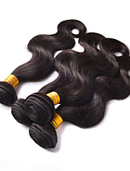 "3Pcs/Lot 8""-26"" Unprocessed Brazilian Virgin Hair Natural Black Body Wave Human Hair Weave Full Bundles"