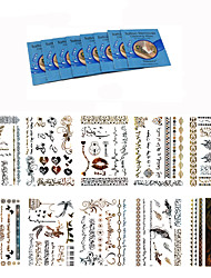 king horse-Tatuajes Adhesivos-Non Toxic / Waterproof / Metálico-Otros-Mujer / Adulto-Multicolor-Papel-18Pcs/Lot =10pcs temporary tattoos