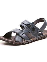 Aokang® Men's Flat Heel Comfy Leather Sandals(blue) - 141723008