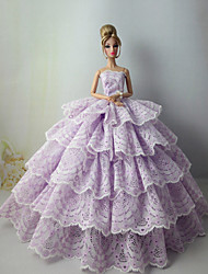 Party & Evening Dresses For Barbie Doll Light Purple Dresses