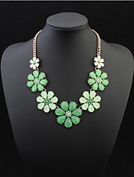 New Arrival Resin Fashion Colorful Cute Charm Gem Flower Necklaces Pendants Fashion Jewelry Woman Gift Summer Style