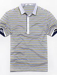 Sieben Brand® Herren Hemdkragen Kurze Ärmel T-Shirt Hellgrau-E99T540233